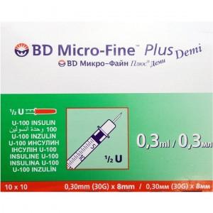 Шприци BD Micro-Fine Demi крок 0,3