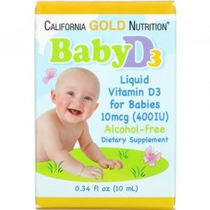 California Gold Nutrition вітамин d3 в краплях для дітей